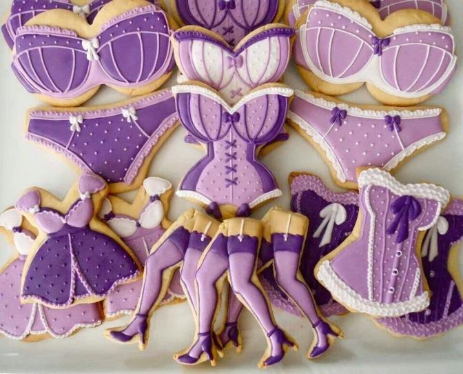 Seleção de cookies decorados: para arrasar no Chá de Lingerie