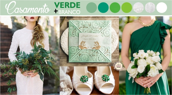Paleta de Cores: Verde & Branco