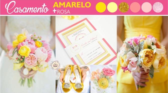 Paleta de cores: Amarelo & Rosa